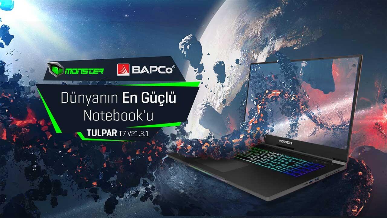 Dünyanın En Performanslı Dizüstü Bilgisayarı Monster Notebook Tulpar Seçildi
