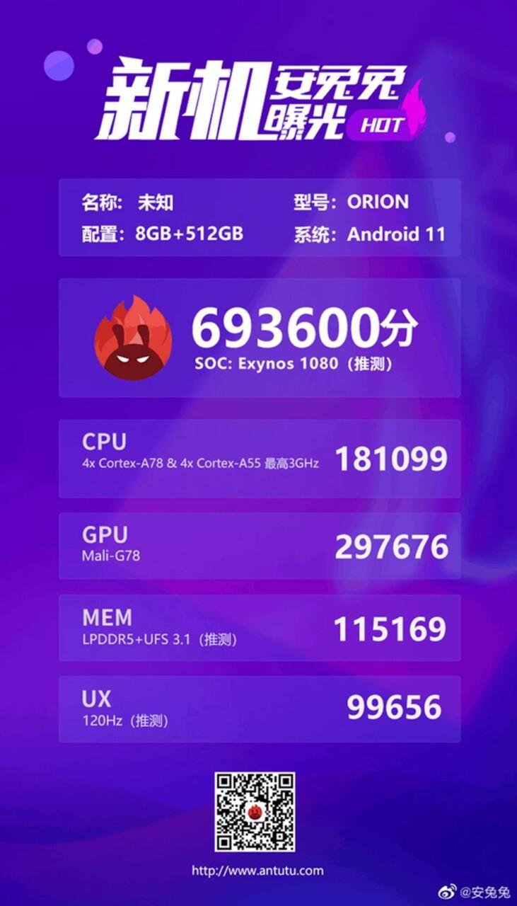 Exynos 1080 İşlemci Testinin ilk Sonuçları Sızdırıldı