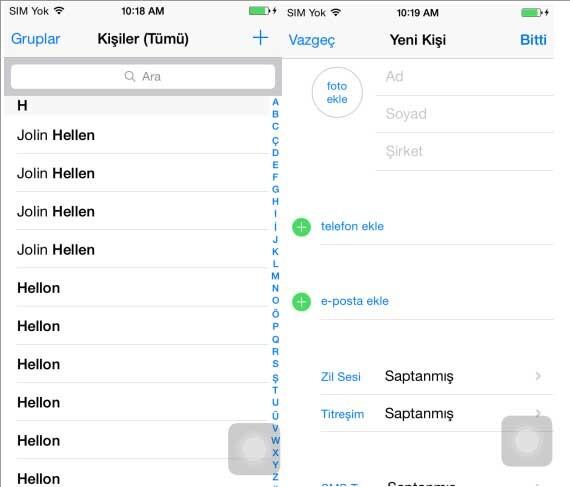 iPhone Yeni Kişi Ekleyemiyorum Sorunu ve Çözümü